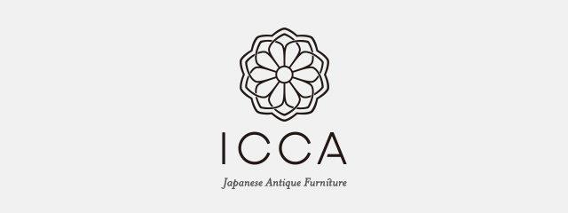 日本のアンティークや古道具や古家具のお店のICCAのロゴマーク