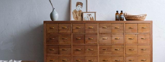 古家具の引き出し棚